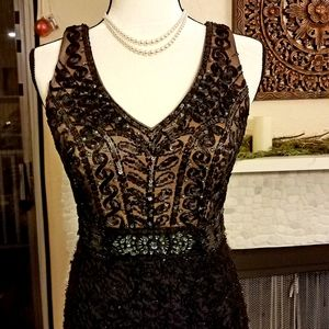 Sue Wong Nocturne Beaded Embroidered Evening Gown
